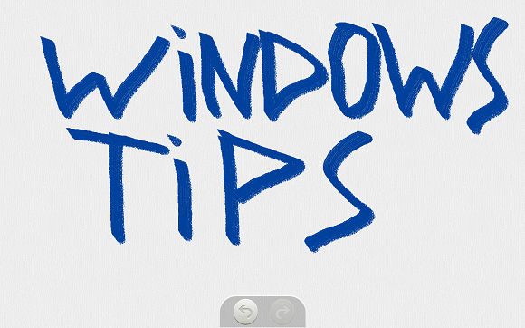 Fresh Paint Windows Tips