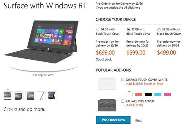 Microsoft Surface Price