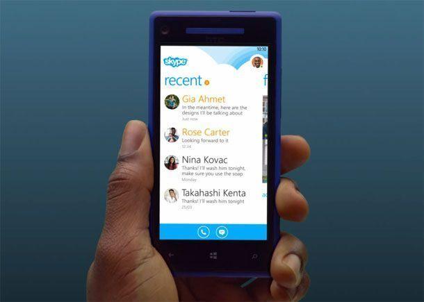Приложение Skype для Windows Phone 8