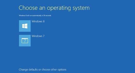 Boot menu in Windows 8