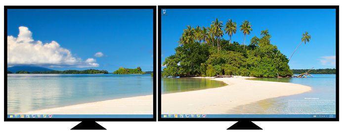 Desktop background spanned-stretched
