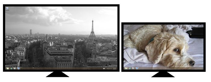 Desktop view with different backgrounds