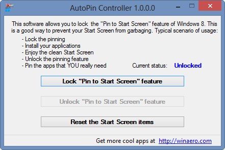 How To Disable Pin To Start Screen Feature In Windows 8