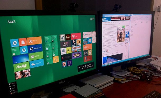 Как настроить и использовать мульти-мониторную конфигурацию в Windows 8