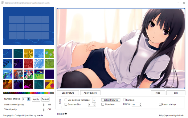 Windows 8 Start Screen Customizer Freeware to customize Start Screen