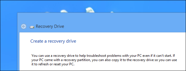 How to Create and Use a Recovery Drive or System Repair Disc in Windows 8