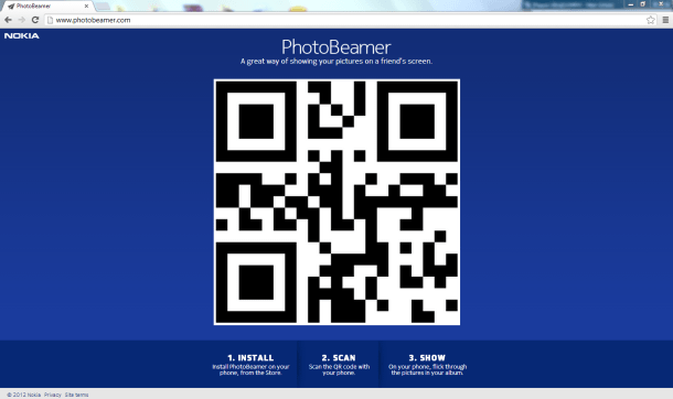 PhotoBeamer Webpage