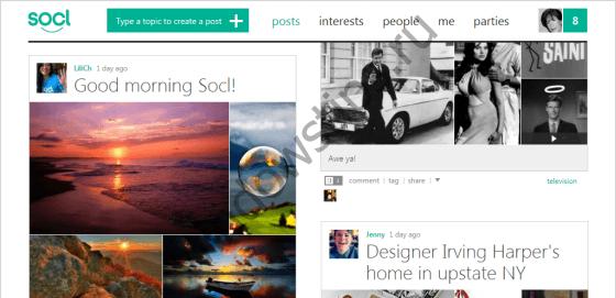 Открыта социальная сеть Socl