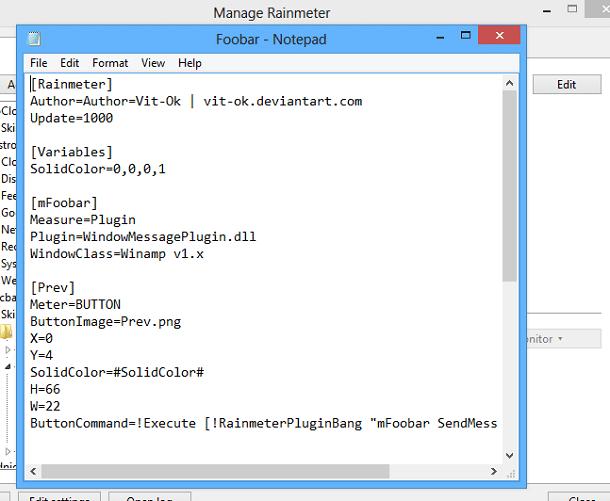 Редактирование тем для Rainmeter с помощью текстового редактора