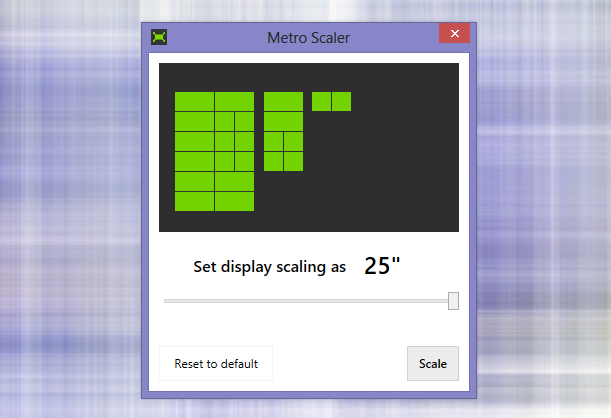Масштабирование плиток на начальном экране в Windows 8 с приложением Metro Scaler