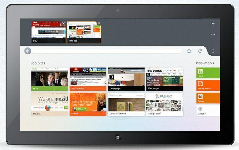 Firefox с интерфейсом Metro