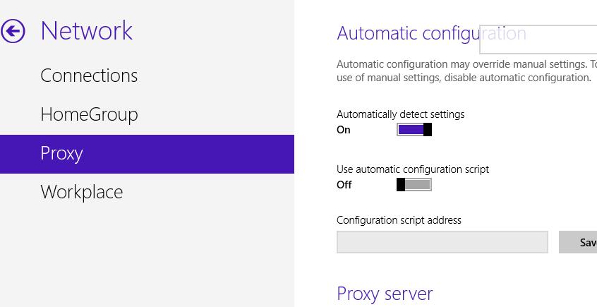 Конфигурация сети в Windows Blue