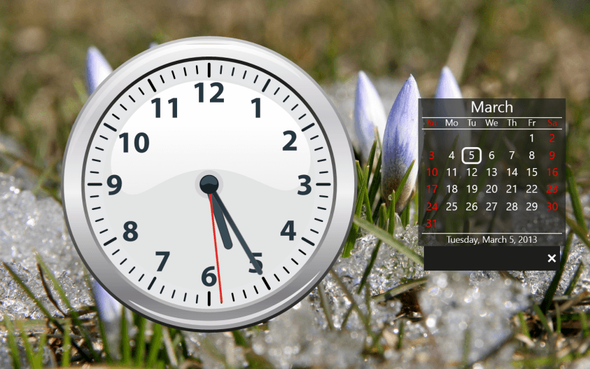 Часы на экран компьютера