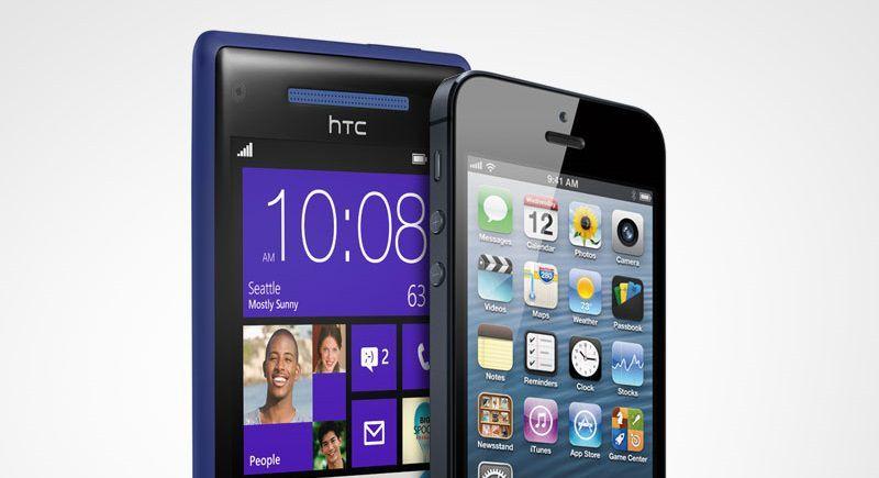 HTC 8X и iPhone