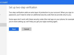 Microsoft account to include two-factor authentication