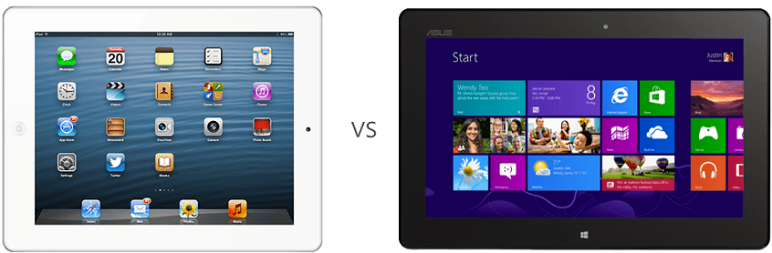 iPad vs Asus VivoTab Smart