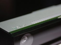 The Xbox Kinect motion sensing device for the Xbox One is shown during a press event unveiling Microsoft's new Xbox in Redmond