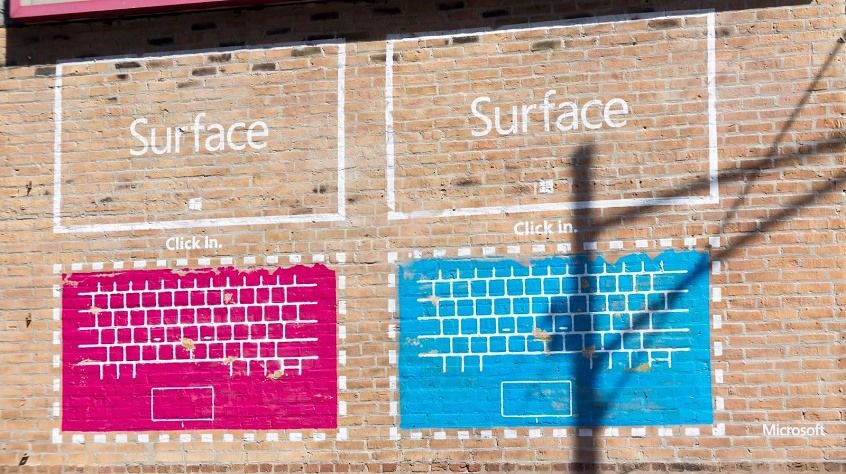 Microsoft Surface viral street art ad Chicago 2