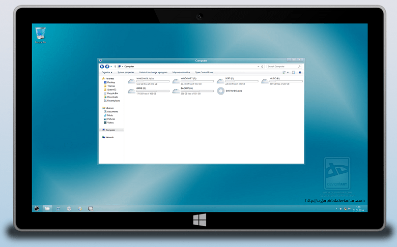 Soft Glass 8 Final for Windows 8 and 8.1