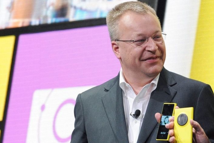 Стивен Элоп на презентации Lumia 1020