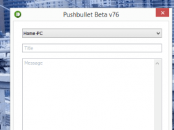 Pushbullet для Windows