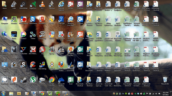 Desktop Clutter
