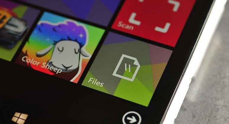 """Приложение """"Файлы"""" для Windows Phone 8.1"""