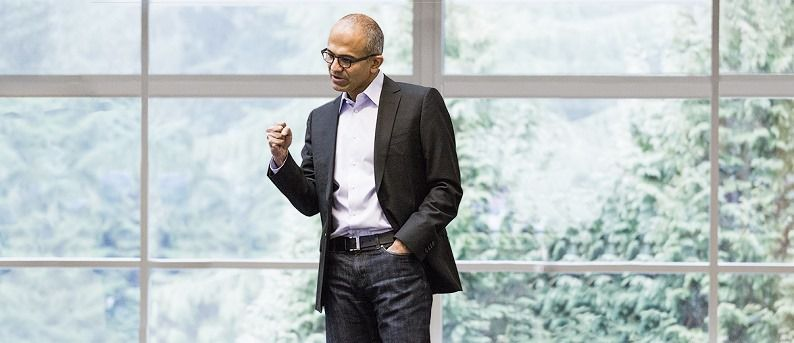 Satya Nadella, CEO of Microsoft. Photographed on MS Redmond Campus, February 1 2014.