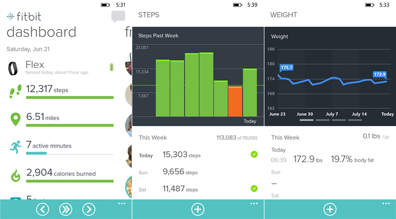 Fitbit для Windows Phone