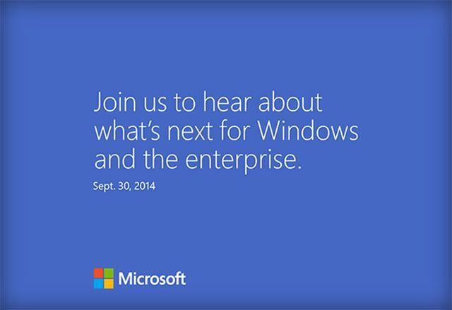 Windows 9 Event Invite