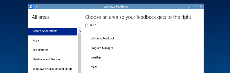 Windows Feedback
