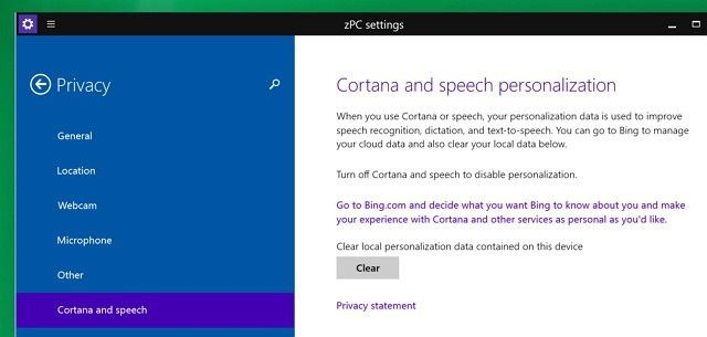 Cortana Windows 10