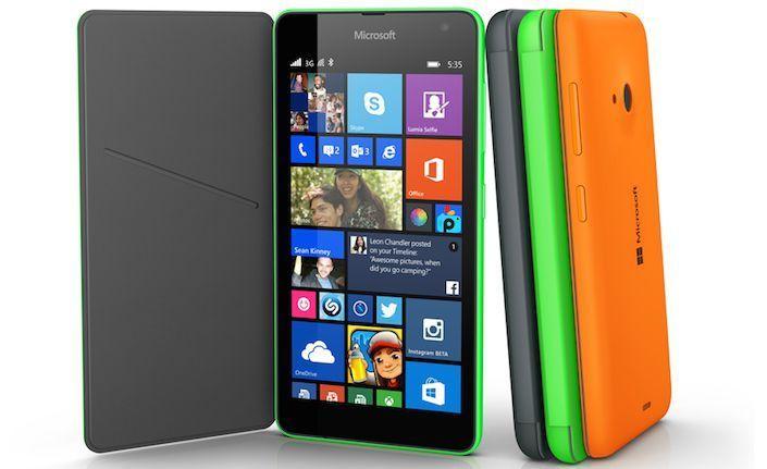 Lumia 535 с чехлом