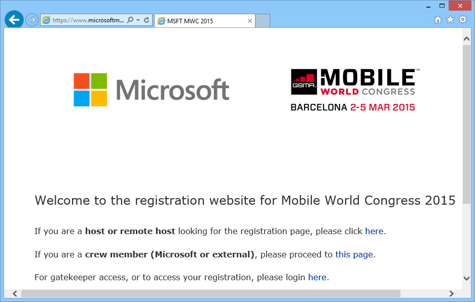 MWC 2015 Microsoft