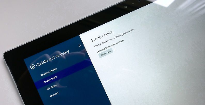 Windows 10 Preview Update