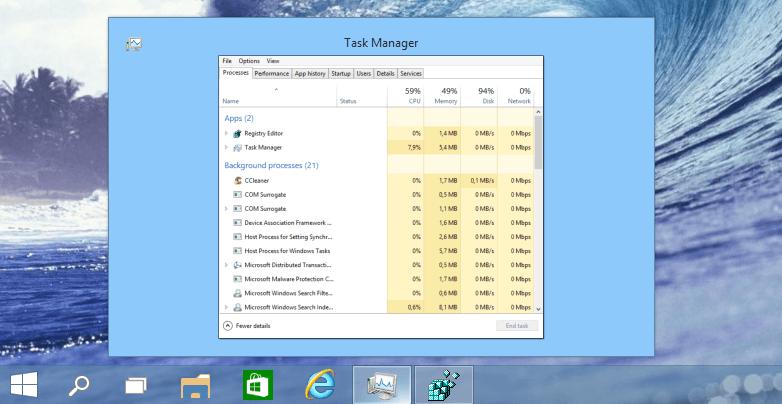 Windows Taskbar Thumbnail