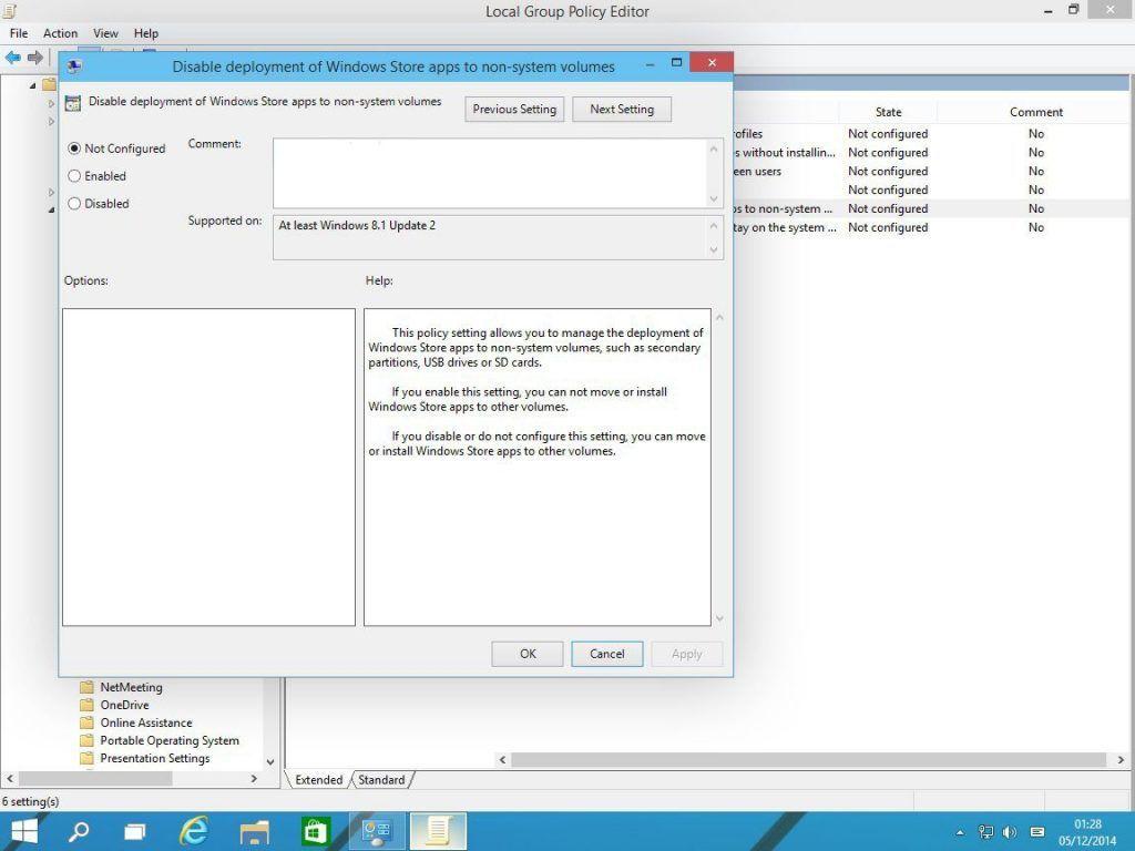 Windows 10 apps on microSD
