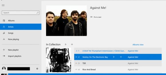 new-music-windows-10-playing