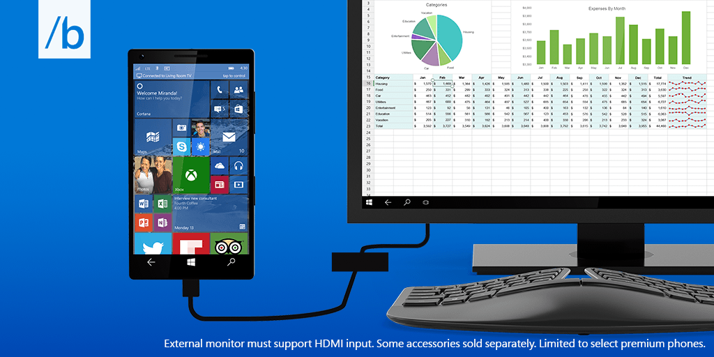 Continuum For Windows 10 Phones