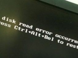 disk read error message