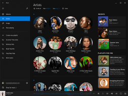 New Look for Music App Windows 10