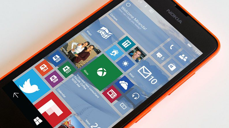 first build of Windows 10 Technical Preview for Phones