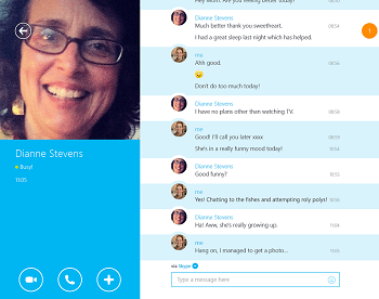 Skype modern application