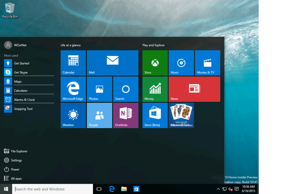 Windows 10 Insider Preview Build 10147