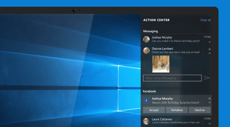 Messaging Windows 10