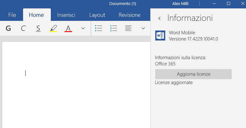 Office Mobile Windows 10
