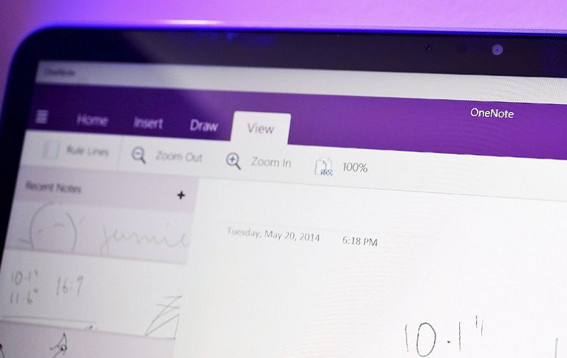 OneNote Touch Windows 10