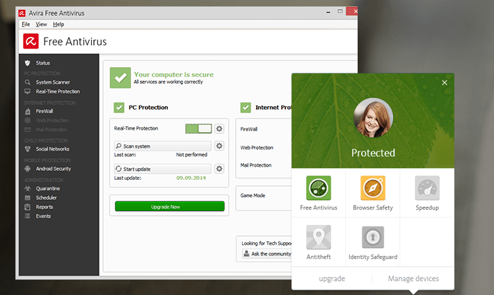 avira free antivirus 2017 for windows 7