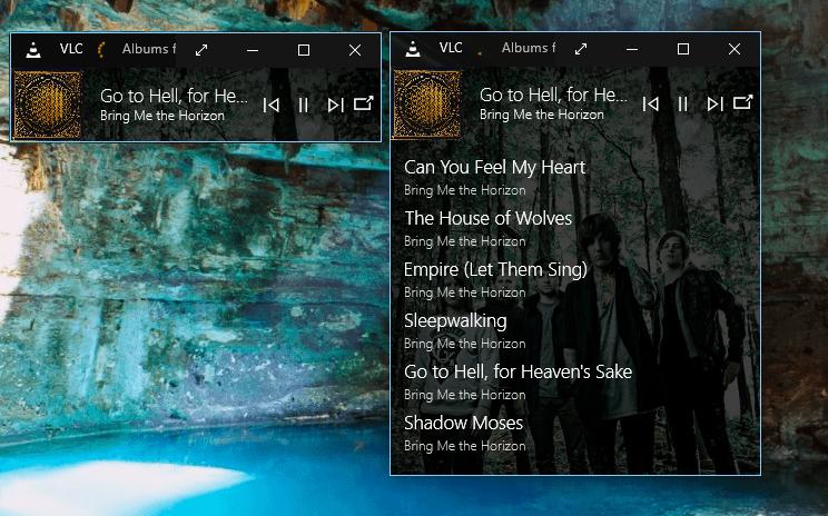 VLC for Windows 10 Mini Player