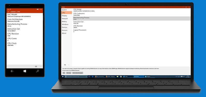 AIDA64 Universal App for Windows 10